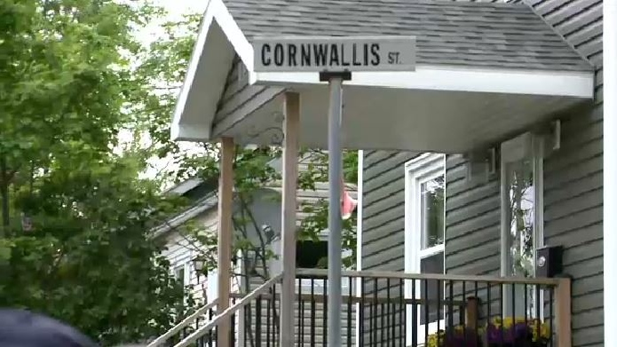 The street signs have been removed on what for generations has been Cornwallis Street in Sydney, N.S.