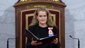 Gov. Gen. Julie Payette delivers the Throne Speech in the Senate chamber, Thursday December 5, 2019 in Ottawa. (THE CANADIAN PRESS/Sean Kilpatrick)