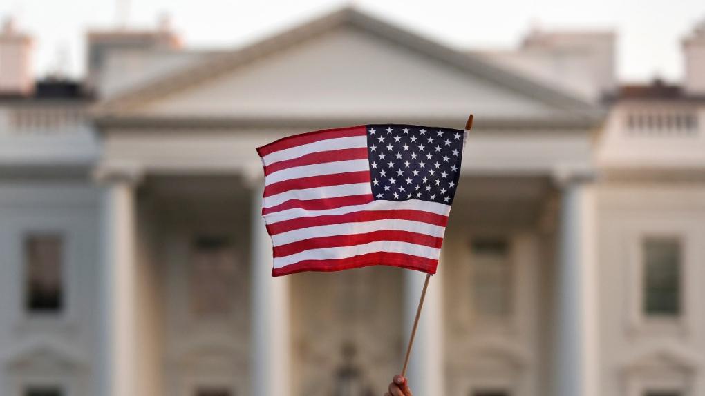Flag waves outside the White House