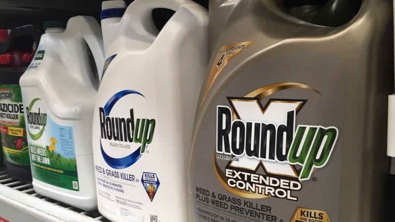 Containers of Roundup are displayed on a store shelf in San Francisco, Feb. 24, 2019. THE CANADIAN PRESS/AP-Haven Daley