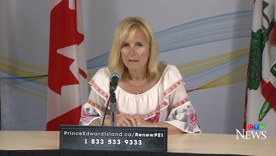 P.E.I.'s Chief Public Health Officer, Dr. Heather Morrison, provides an update on COVID-19 during a news conference in Charlottetown on June 23, 2020.