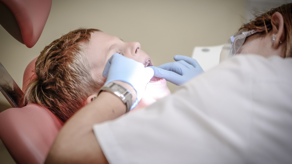 A dentist is pictured with a client in this stock photo. (Pexels)