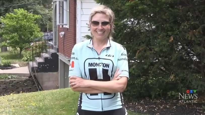 Gini Bourque is participating in the New Brunswick Doctors Cycling Against Cancer ride. Diagnosed with stage four cancer, Bourque is biking 15 km a day to raise money to fight the disease.