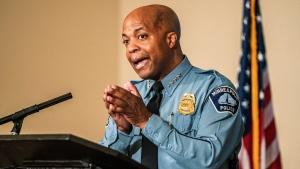 In this June 10, 2020 file photo, Minneapolis Police Department Chief of Police Medaria Arradondo, speaks in Minneapolis. (Richard Tsong-Taatarii/Star Tribune via AP File)
