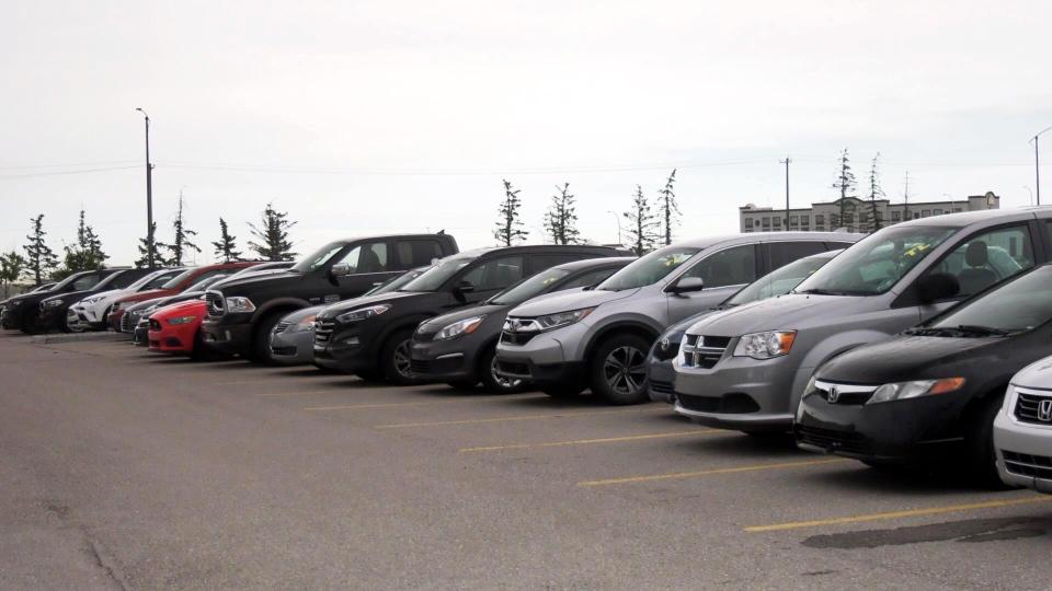 Calgary parking lot
