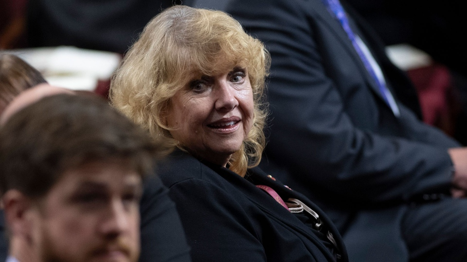 Senator Lynn Beyak waits for the Speech from the Throne to being in the Senate in Ottawa, Thursday, Dec. 5, 2019. Sen. Lynn Beyak is denying she ever claimed to be Metis. She issued a two-line statement today saying the media have reported that she is Metis but she says she has never been a member of the Indigenous nation. THE CANADIAN PRESS/Sean Kilpatrick