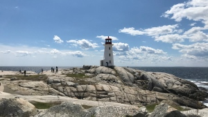 Nova Scotia's picturesque Peggy's Cove is seen on May 17, 2020. The iconic lighthouse is a popular tourism destination. (Andrea Jerrett/CTV Atlantic)