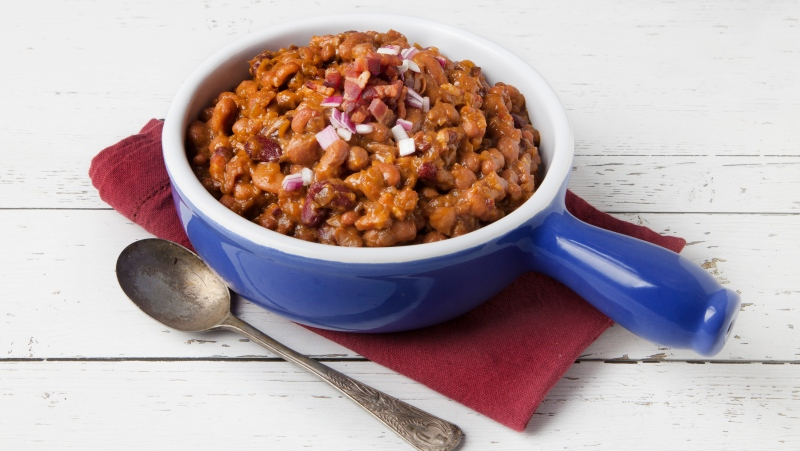 ATCO Blue Flame Kitchen, smoky baked beans