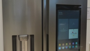 New refrigerator with smart technology and electronic interface. (CTV Northern Ontario)