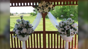 The town of Innisfil is offering wedding ceremonies at the Town Hall outdoor gazebo at 2101 Innisfil Beach Road as pictured. (Supplied)
