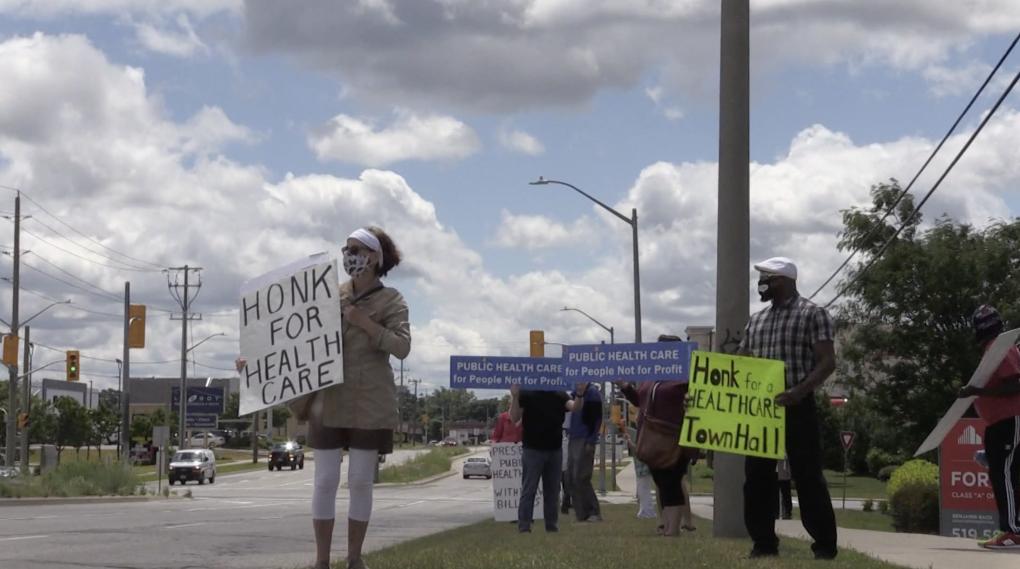 Health care protesters