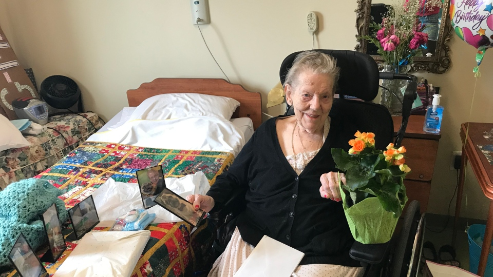 Norma Sullivan poses for her birthday in this photo taken May 8, 2020. Photo provided by Lynn Mucci.