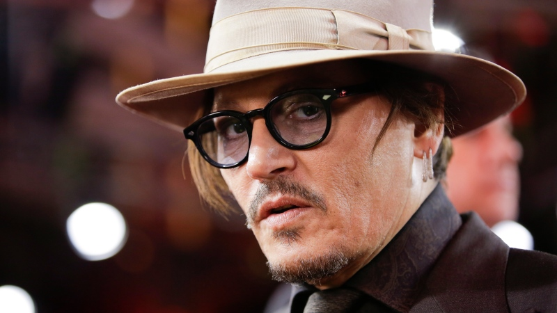 In this Friday, Feb. 21, 2020 file photo, actor Johnny Depp arrives for the screening of the film Minamata during the 70th International Film Festival Berlin, Berlinale in Berlin, Germany. (AP Photo/Markus Schreiber, File)