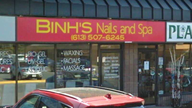 Binh's Nail and Spa salon at 500 Gardiners Rd. in Kingston, Ontario. (Google Street View)