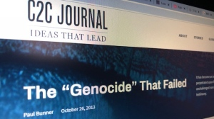 """The 'Genocide' That Failed"" by Paul Bunner was published in the C2C Journal in 2013."