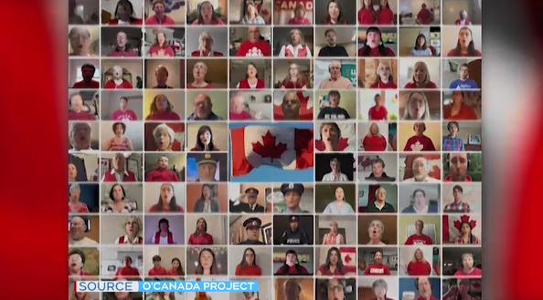 Singers from around Sudbury sing O Canada