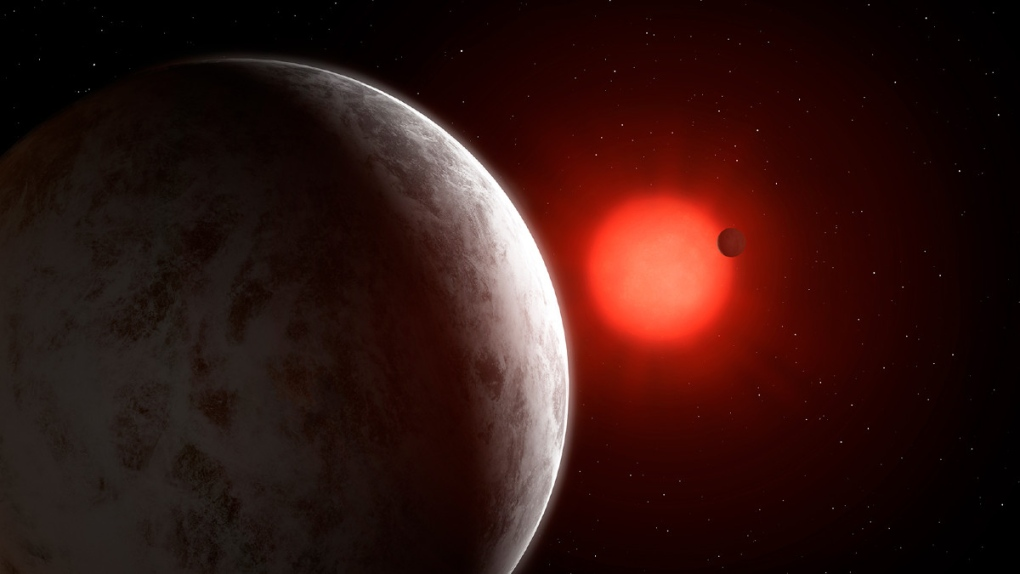 Super-earths discovered orbiting nearby red dwarf #113625