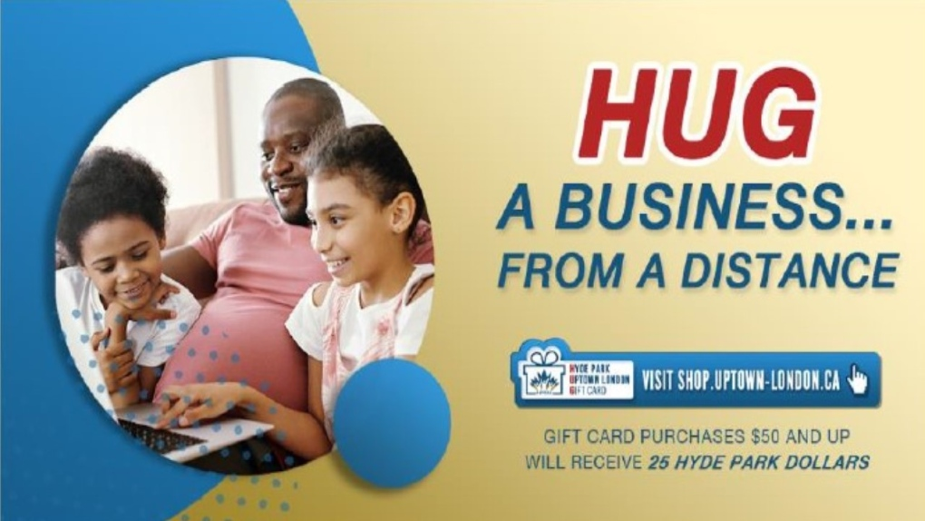 Hug a business from a distance
