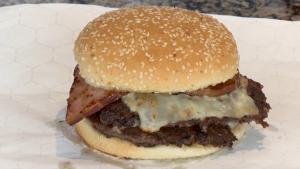 Jack Attack burger at Joanne's BBQ