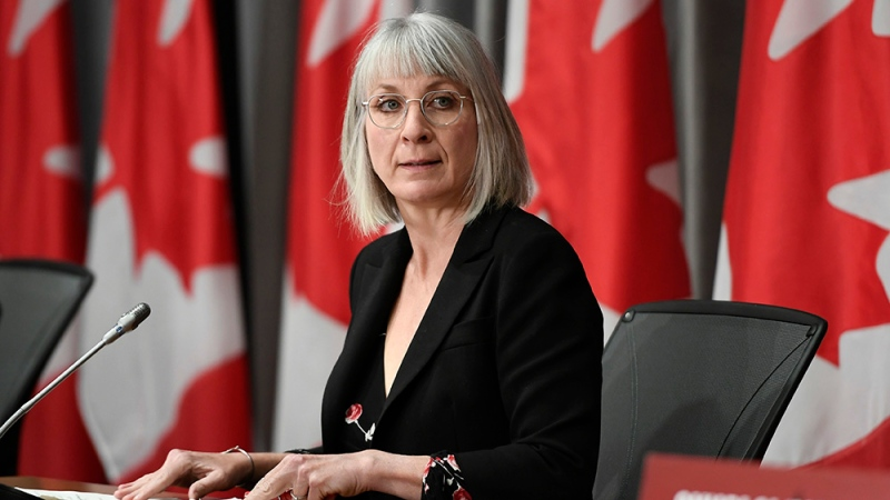 Minister of Health Patty Hadju listens during a news conference in West Block on Parliament Hill in Ottawa, on Monday, June 1, 2020. THE CANADIAN PRESS/Justin Tang