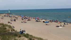 Grand Bend Ont. on June 26, 2020. (Bryan Bicknell/CTV London)