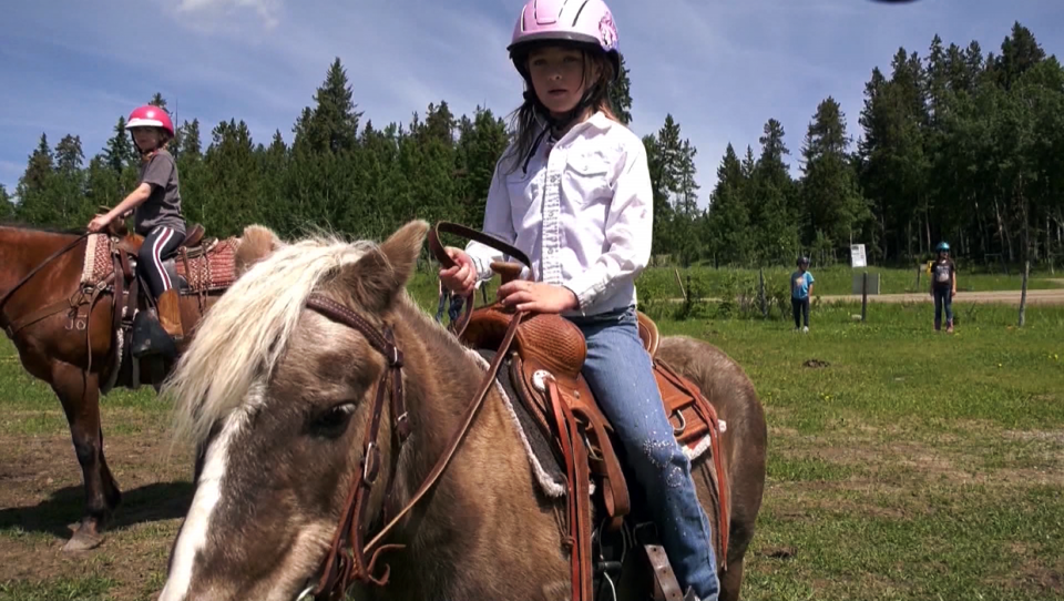 John Owens was raised at Griffin Valley Ranch, where he worked as a kid and eventually ran the operation for 10 years. After the ranch closed, Owen opened Bar*JO*Ranch.  Here, his seven-year-old daughter Rylee explains how she loves having a new ranch to ride at.