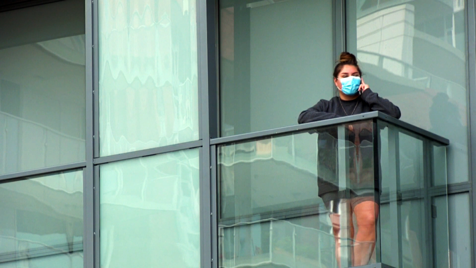A resident at the Verve condominums, where there's an outbreak of COVID-19 cases, says it's