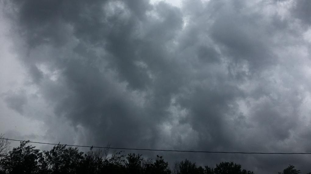 Dark clouds gather in Bonfield, Ont.