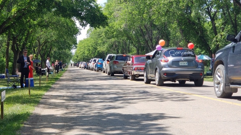 Weyburn grad reverse parade