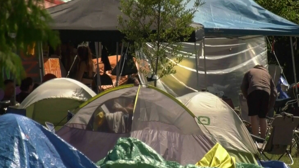Strathcona Park encampment growing