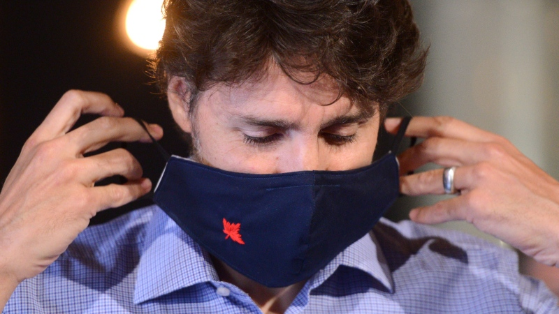 Prime Minister Justin Trudeau holds a news conference at Big Rig Brewery amid the COVID-19 pandemic in Ottawa on Friday, June 26, 2020. THE CANADIAN PRESS/Sean Kilpatrick