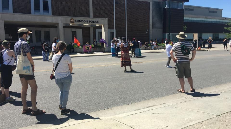 Indigenous community rally