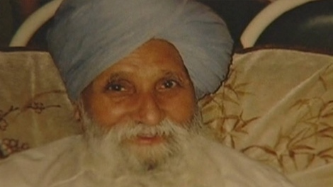 Pritam Benning, 83, died after being run over at a Surrey, B.C., bus stop. His family is upset no charges have been filed yet in the case. Oct. 5, 2009.
