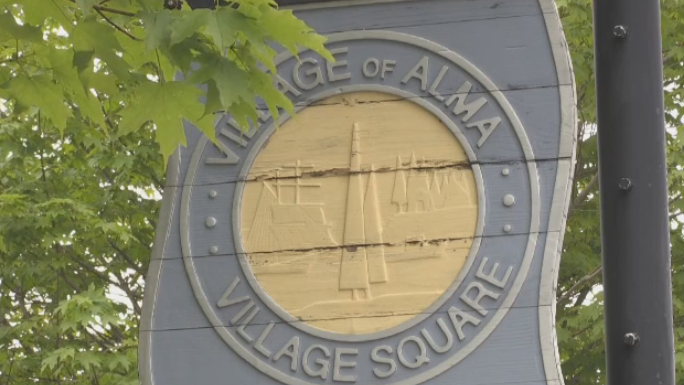 Village of Alma town sign