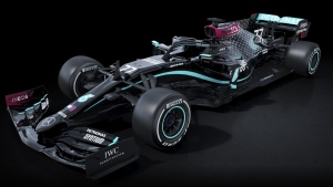 Mercedes-AMG F1 new black 2020 livery. (source: Twitter / @MercedesBenz)