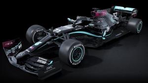 Mercedes-AMG F1 new black 2020 livery. (source: Twitter / @MercedesBenz)
