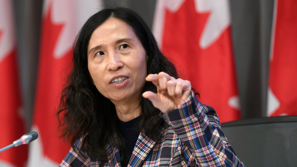 Chief Public Health Officer of Canada Dr. Theresa Tam participates in a news conference on the COVID-19 pandemic, in West Block on Parliament Hill in Ottawa, on Monday, June 29, 2020. THE CANADIAN PRESS / Justin Tang