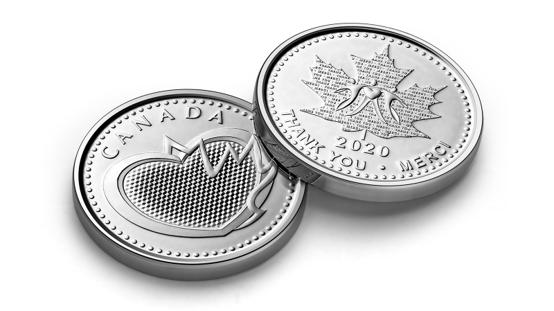 A special-edition collectible medal being produced by the Royal Canadian Mint is meant to thank essential workers during the COVID-19 pandemic. (Handout)