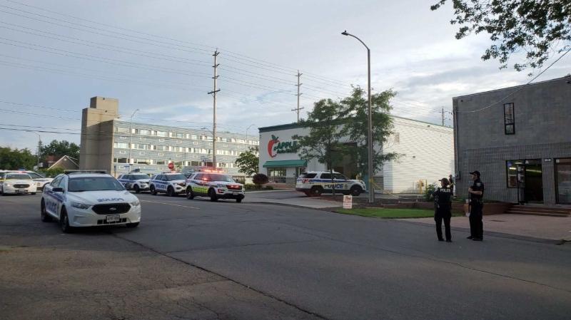 Ottawa Police investigate a shooting on Boyce Street June 29, 2020. (Aaron Reid/CTV News Ottawa)