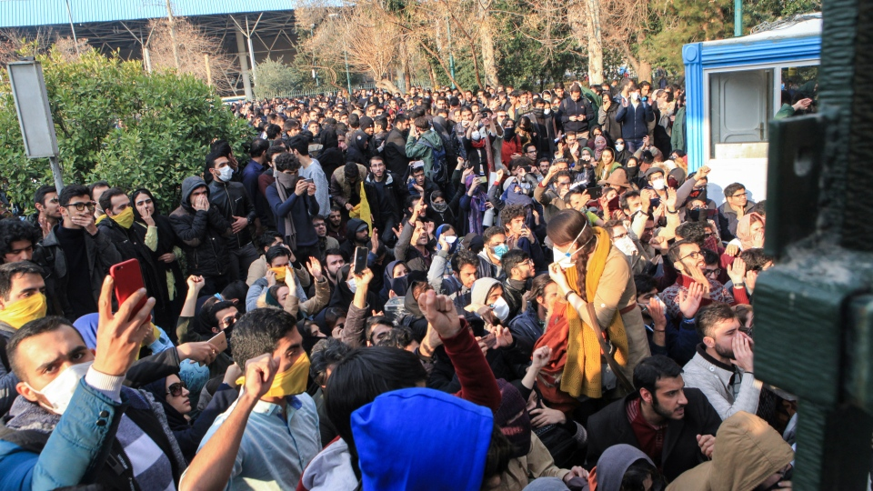 iran protests 2017