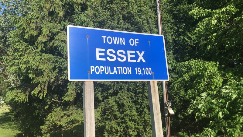 The Town of Essex sign in Essex, Ont., on June 11, 2020. (Melanie Borrelli / CTV Windsor)
