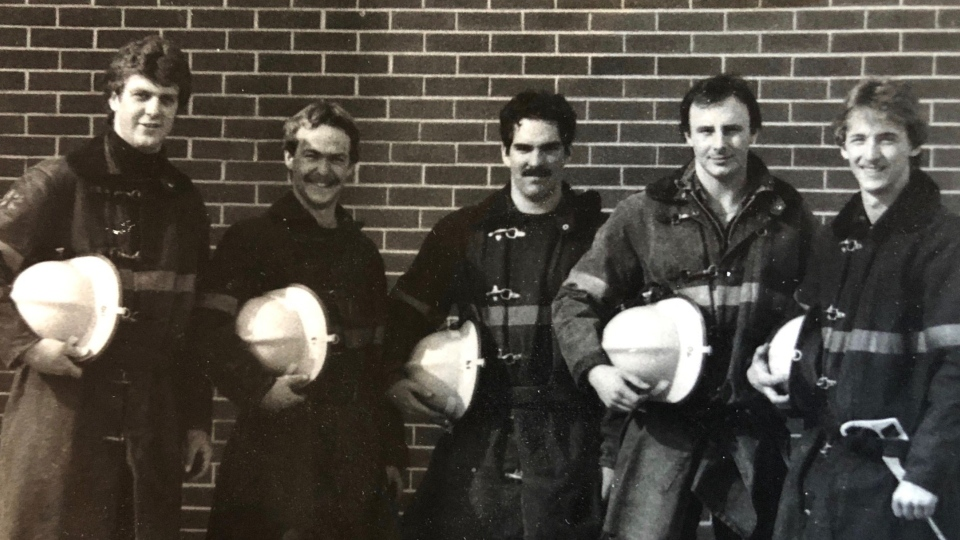 Ottawa firefighters in drill school in 1983.