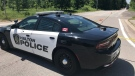 Halton police at the intersection of Guelph Line and No. 10 Sideroad in Milton where a dead man was found. (Dan Lauckner - CTV Kitchener) (June 30, 2020)