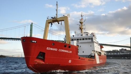 CCGS Edward Cornwallis pictured in the Halifax Harbour. (Source: Government of Canada)