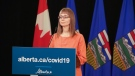 Alberta's chief medical officer of health Dr. Deena Hinshaw provided an update on COVID-19 and the ongoing work to protect public health from Edmonton on June 25, 2020. (Government of Alberta)