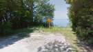 The end of Cameron Street in Bayfield, Ont. is seen in this image from Google Maps.