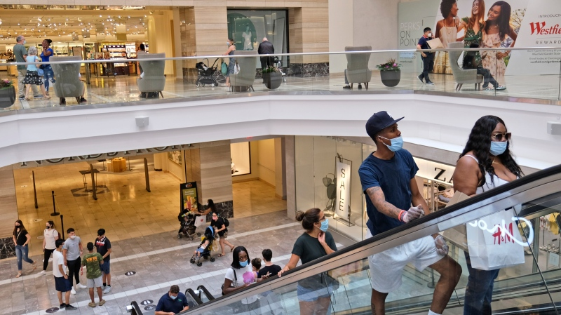 Consumer spending -- the main fuel of the U.S. economy -- surged for a second straight quarter.  (AP Photo/Seth Wenig, File)