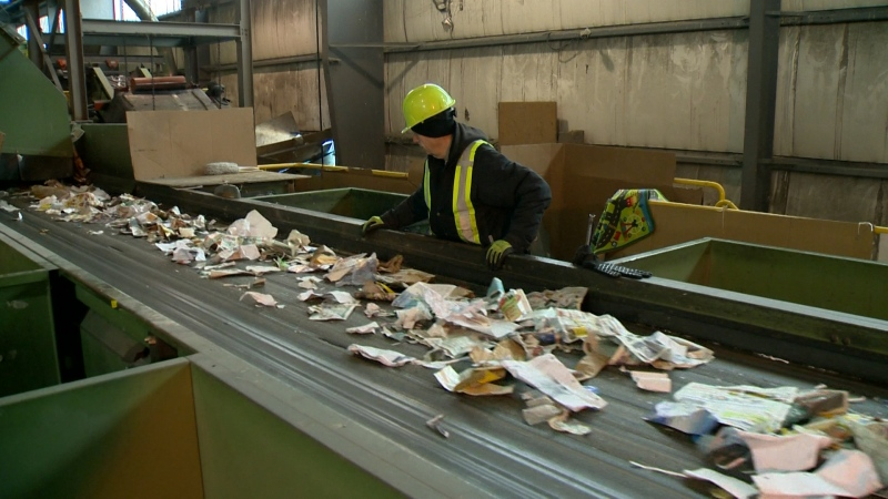 A recycling plant in the City of Winnipeg (file image)