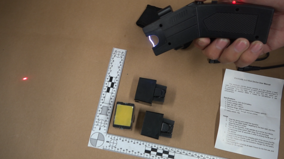 One of the Tasers seized by police is shown: (Saanich Police)