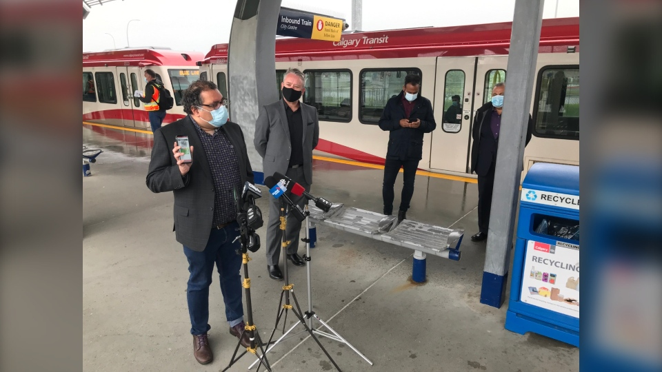 Mayor Nenshi announces a new transit app that will allow transit users to pay for tickets without touching pay terminals.